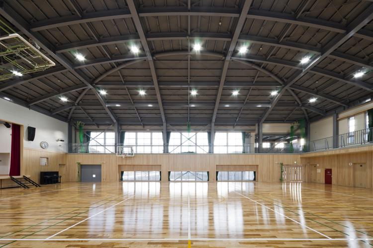 安田中学校体育館新築工事