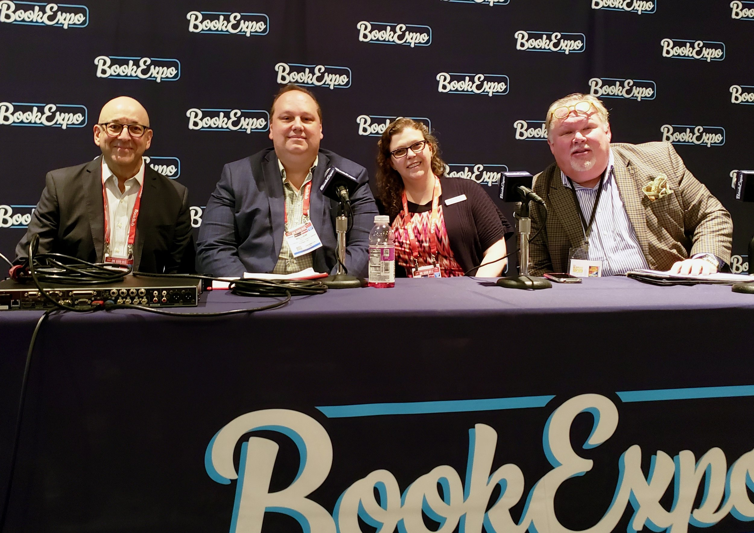 Book Expo panel members Cliff Guren, Bill Kelly, Alexis Petric-Black and Skip Dye