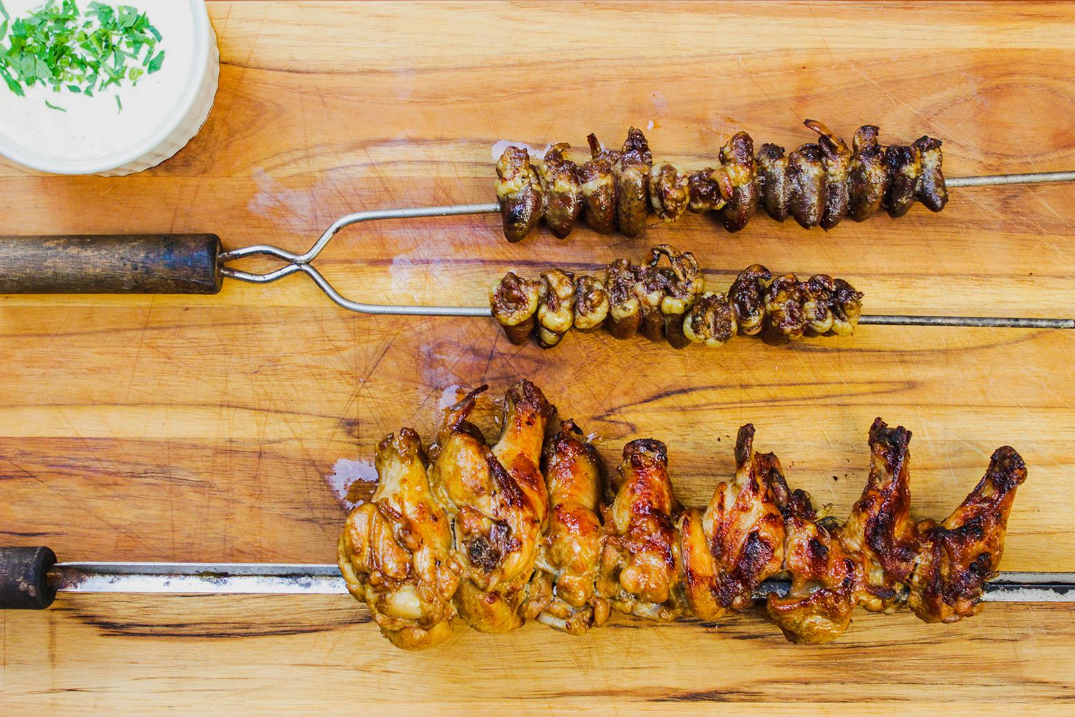 Maionese, coração e frango