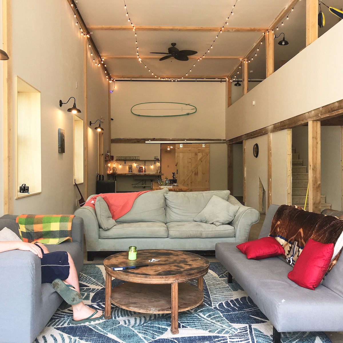 Barn Door Hostel and Campground - starting at $10 (outside) and $20 (inside) (per person, per night) dogs allowed outside with proper paperwork