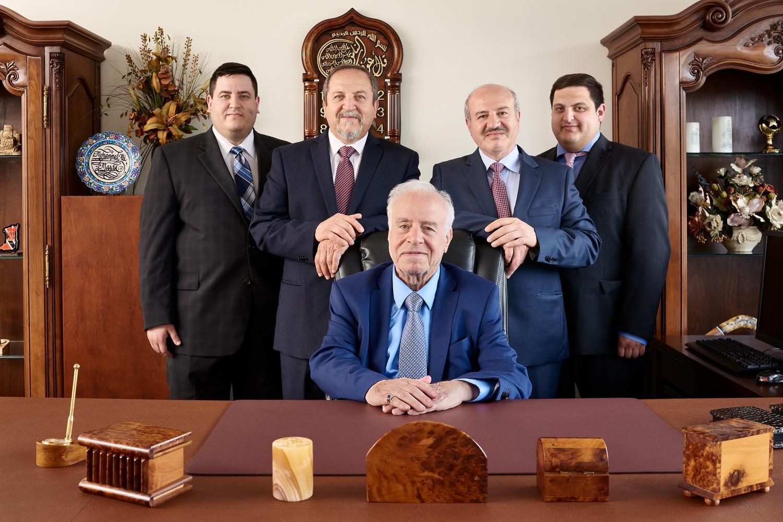 Standing from left to right:  Sadiq Al-Ali, Yahya Abbas, Ahmed Al-Ali, Akeel Abbas  Sitting: Mr. Mohammed-Ali Al-Ali