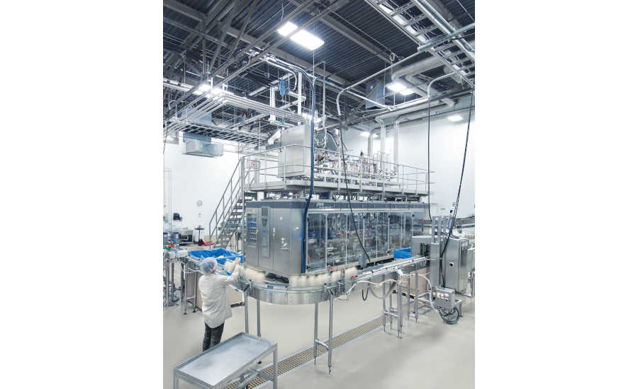 KHS aseptic line that fills up to 12,000 1-liter bottles an hour