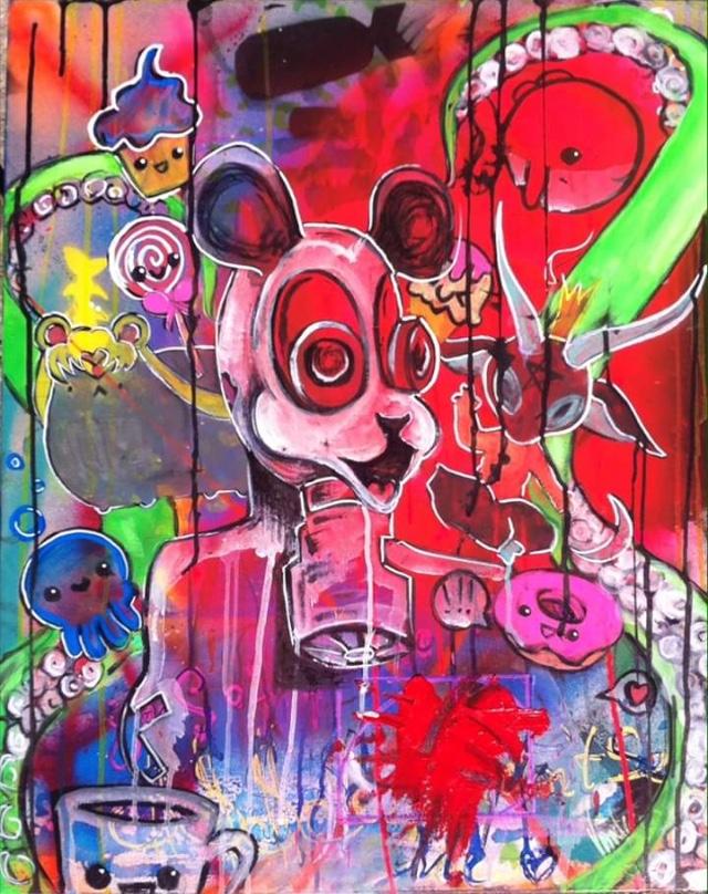 Vanessa van Hollywood   :  Painting/Mixed Media  2086 Beaconsfield Ave. Apartment 108