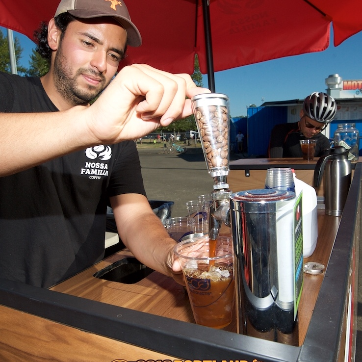 FREE iced mochas on the house tonight, courtesy of Nossa Familia Coffee!