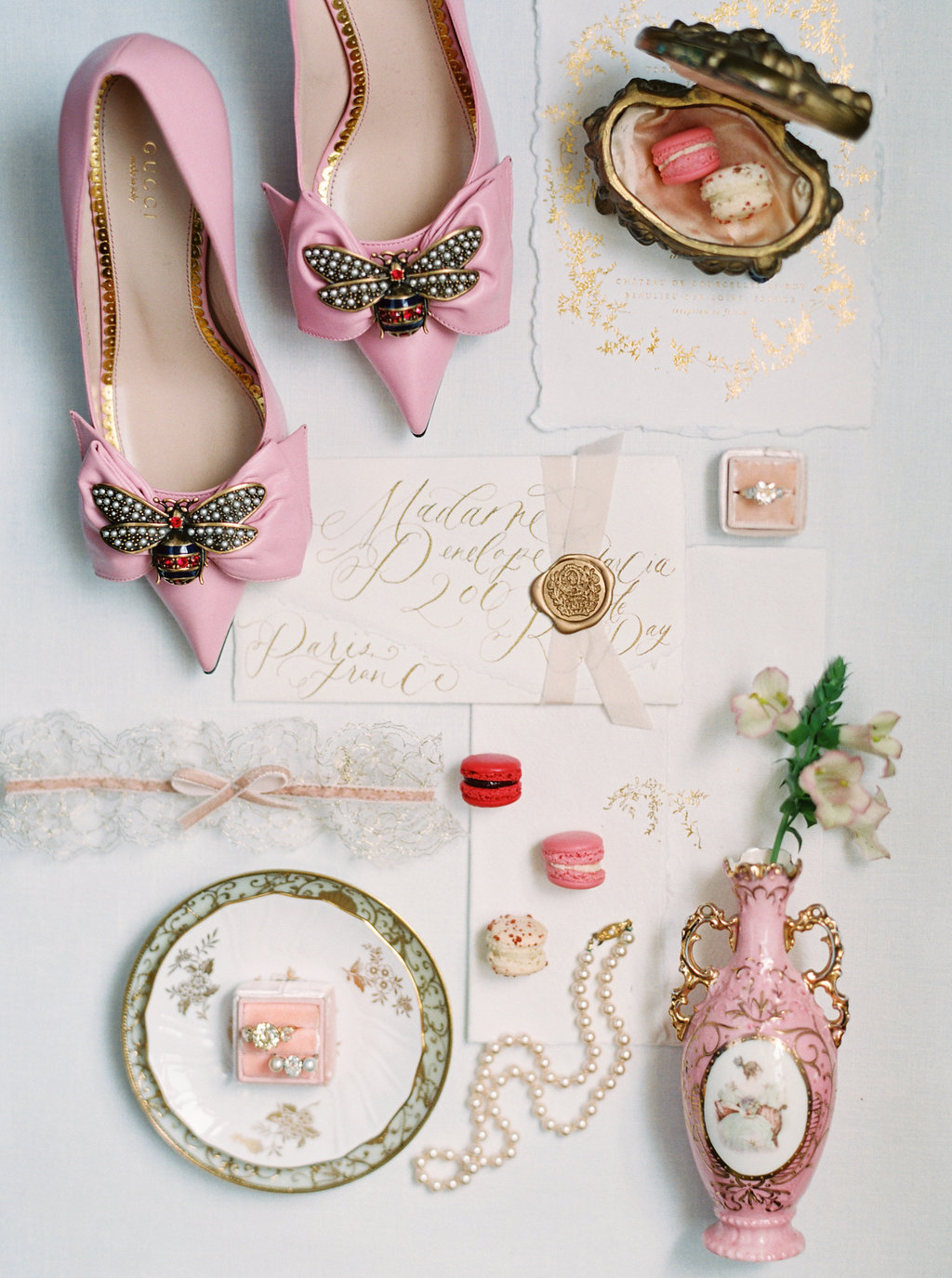 Flatlay styling Gucci bee shoes East Made Event Company .jpg