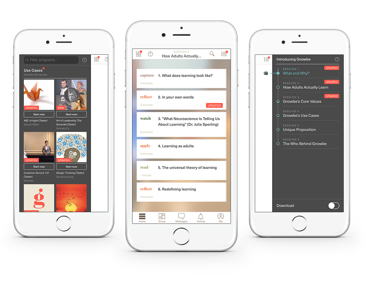 Use Gnowbe for easy mobile access to our library of courses.