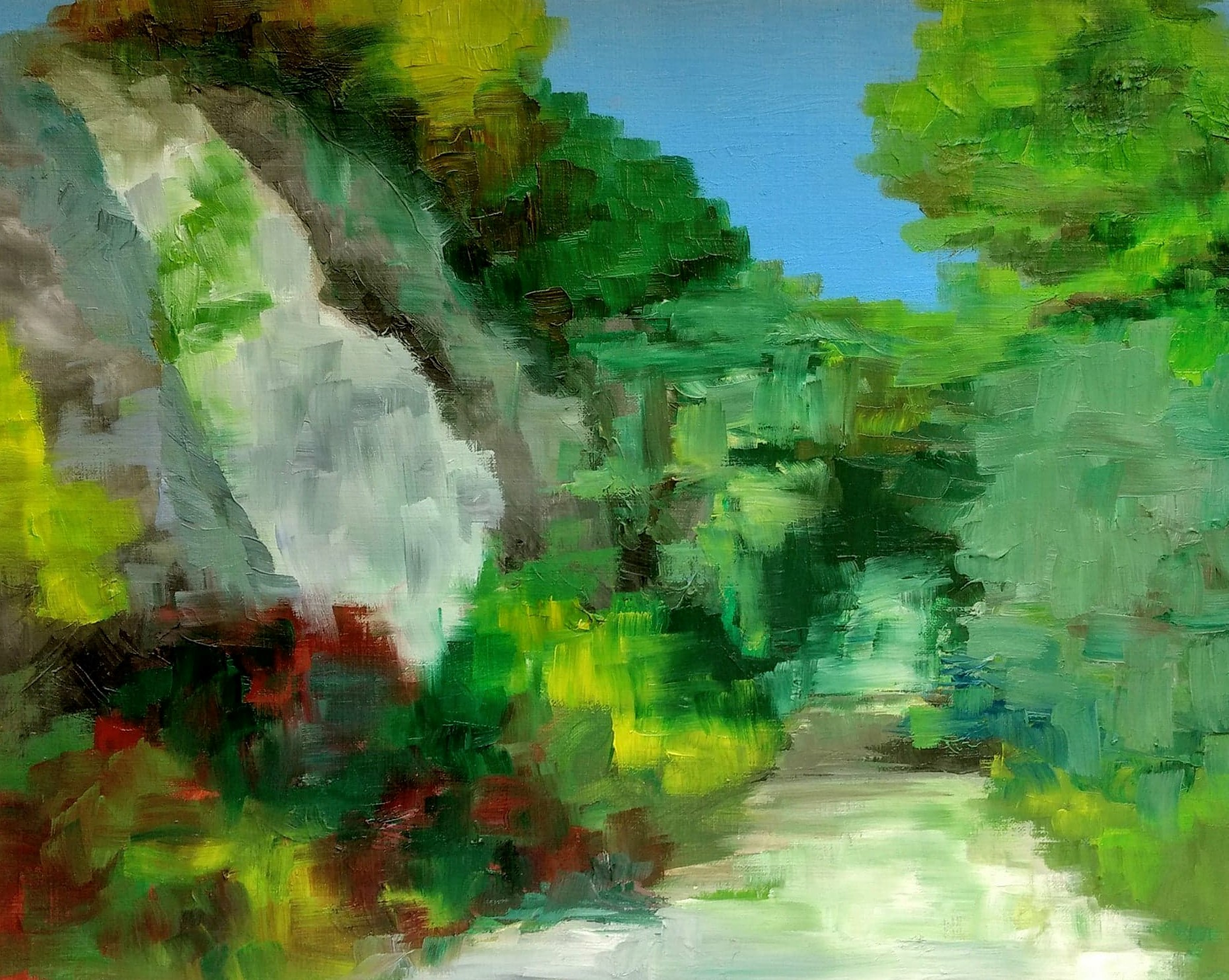 On the Trail   2017  9 in x 12 in  Oil on Paper