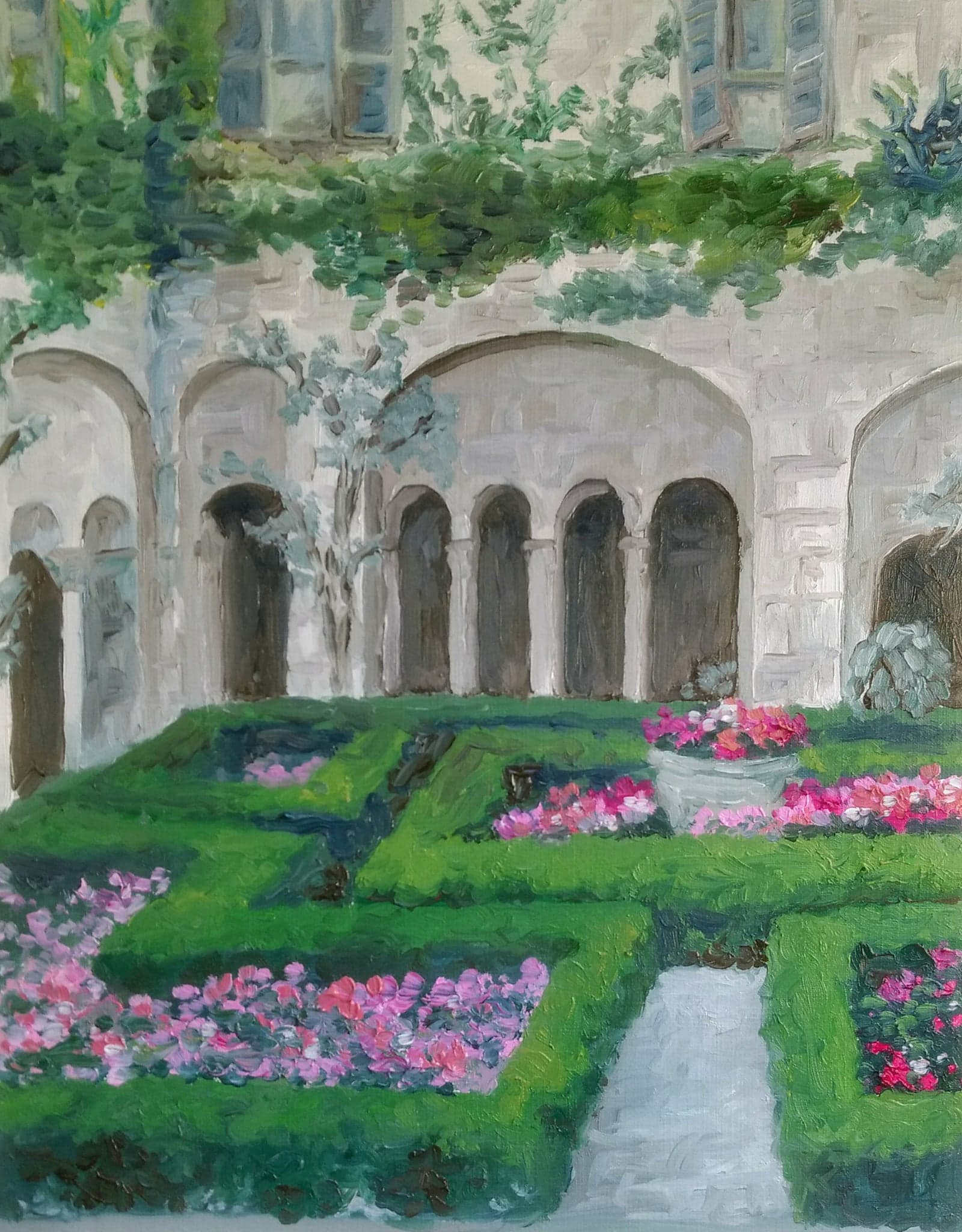 Cloister of St. Remy   2017  9 in x 12 in  Oil on Paper