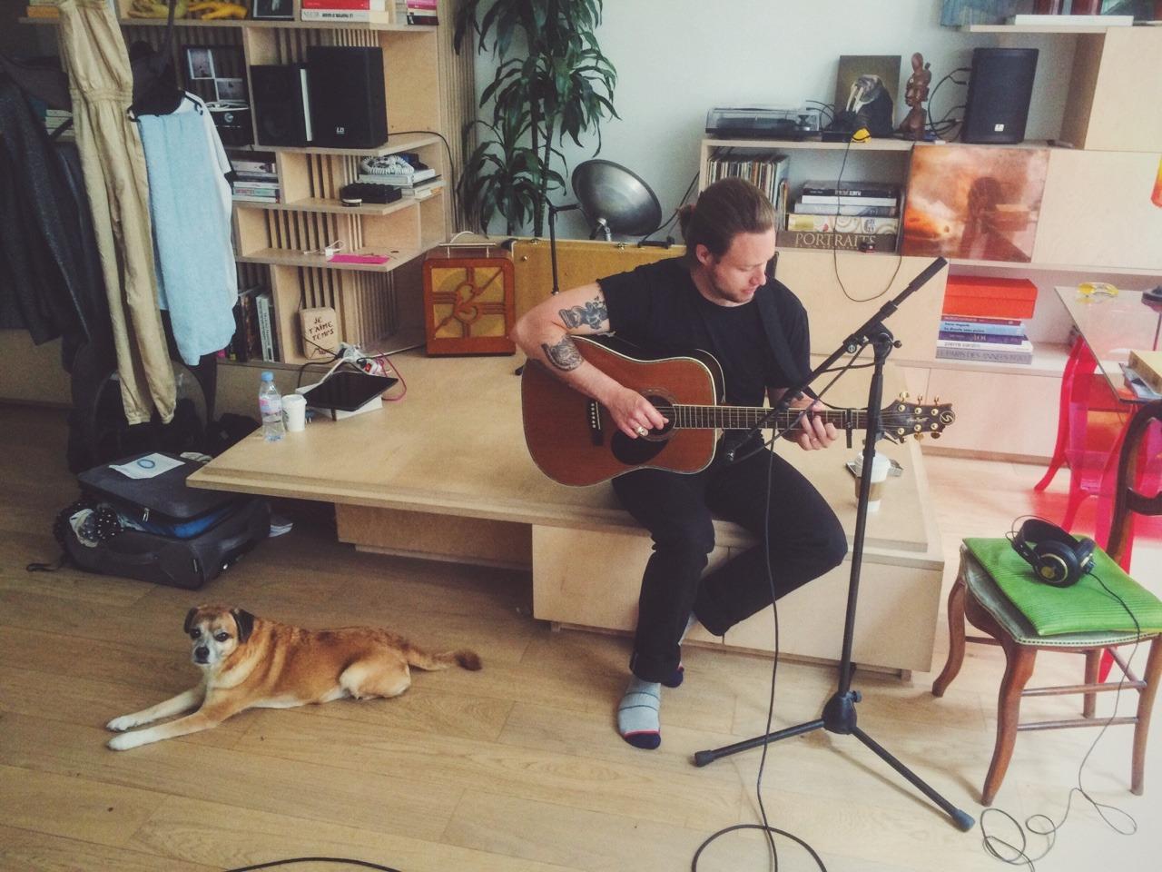 Lucky to be recording Christian Hansen, artist in residence at Break' Art Mix!
