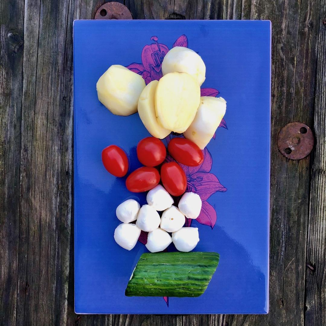 Batatas - Tomates - Pepino - Mussarela