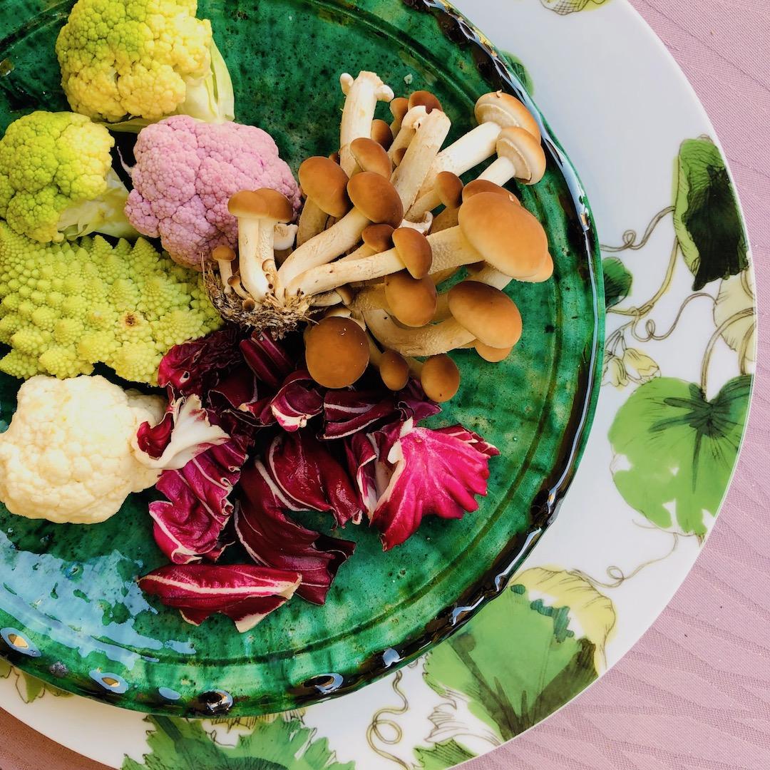 Brócolis - Cogumelos - Radicchio