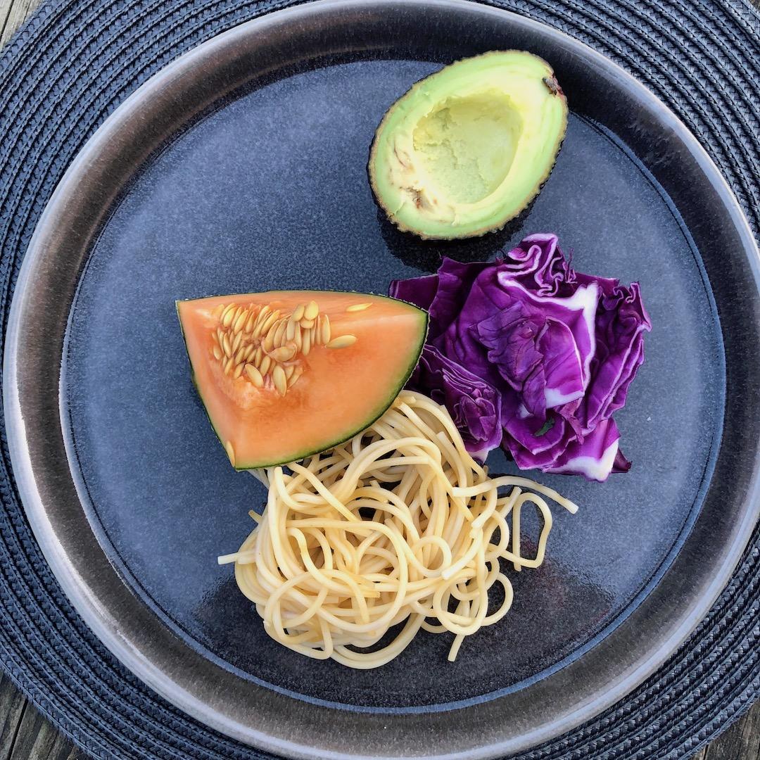 Abacate - Melão - Espaguete - Repolho Roxo
