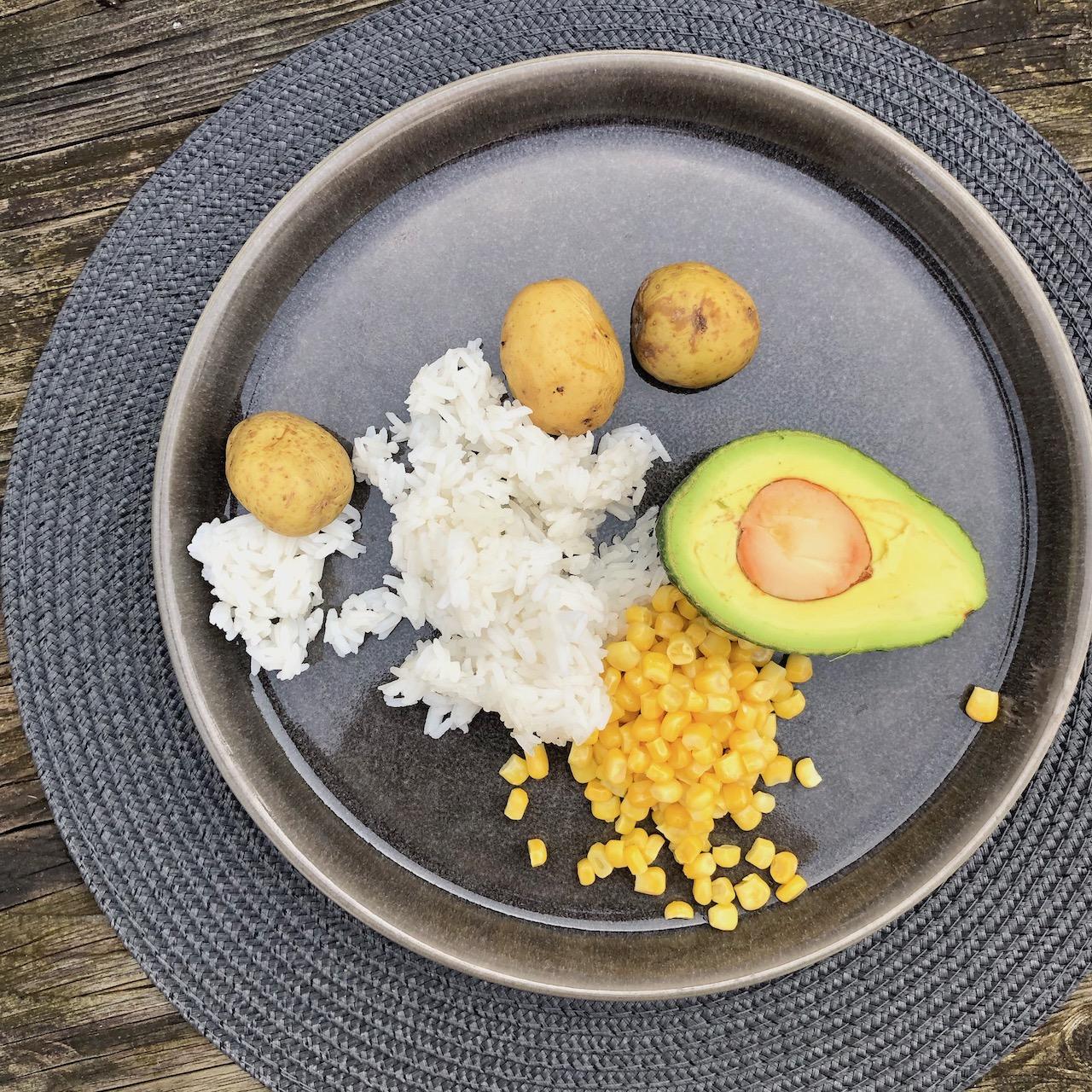 Batata - Abacate - Milho - Arroz