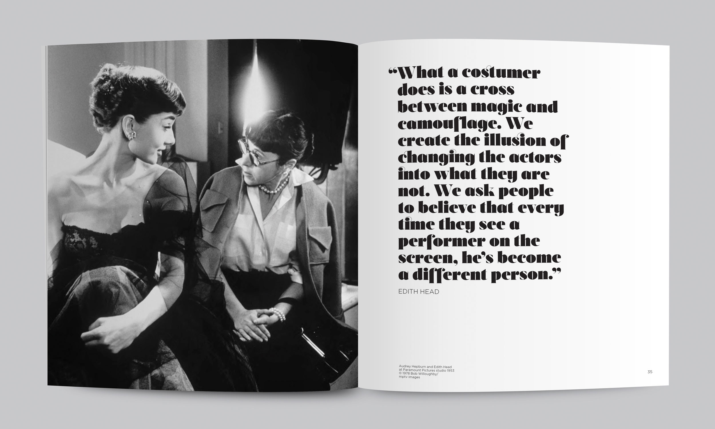 The Costume Designer: Edith Head & Hollywood exhibition branding and catalogue.  view case study