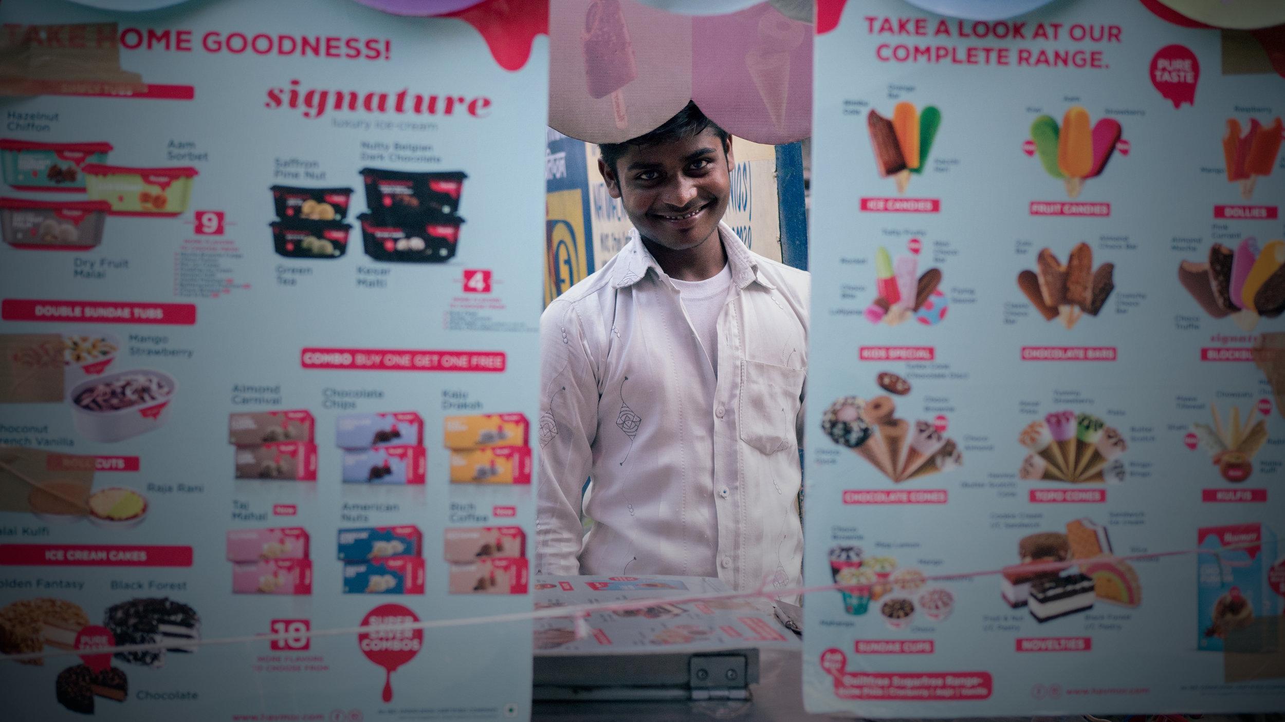 Sanjay Kumar, student and ice cream wallah