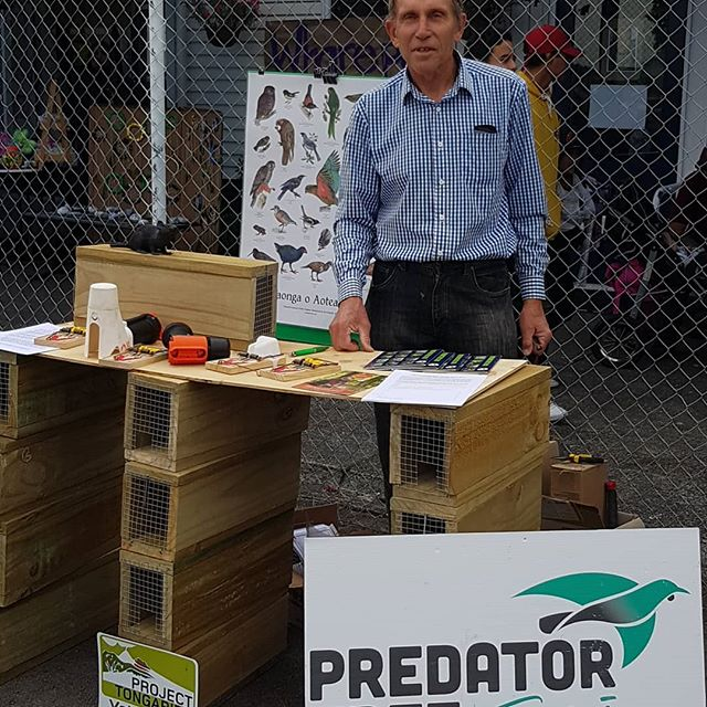 Roel in charge of the Predator free stand at the Wairahanui Gala.