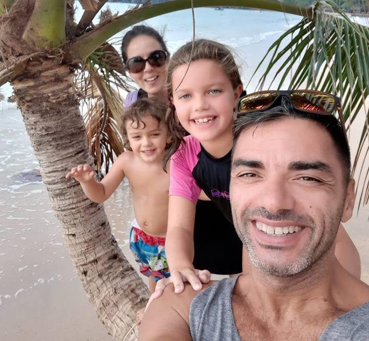 Amber, Santi, Safia and Paul - the Romero Tribe