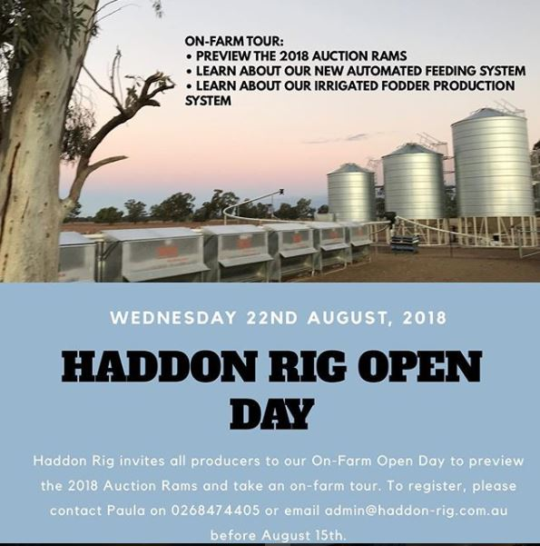 HADDON RIG OPEN DAY
