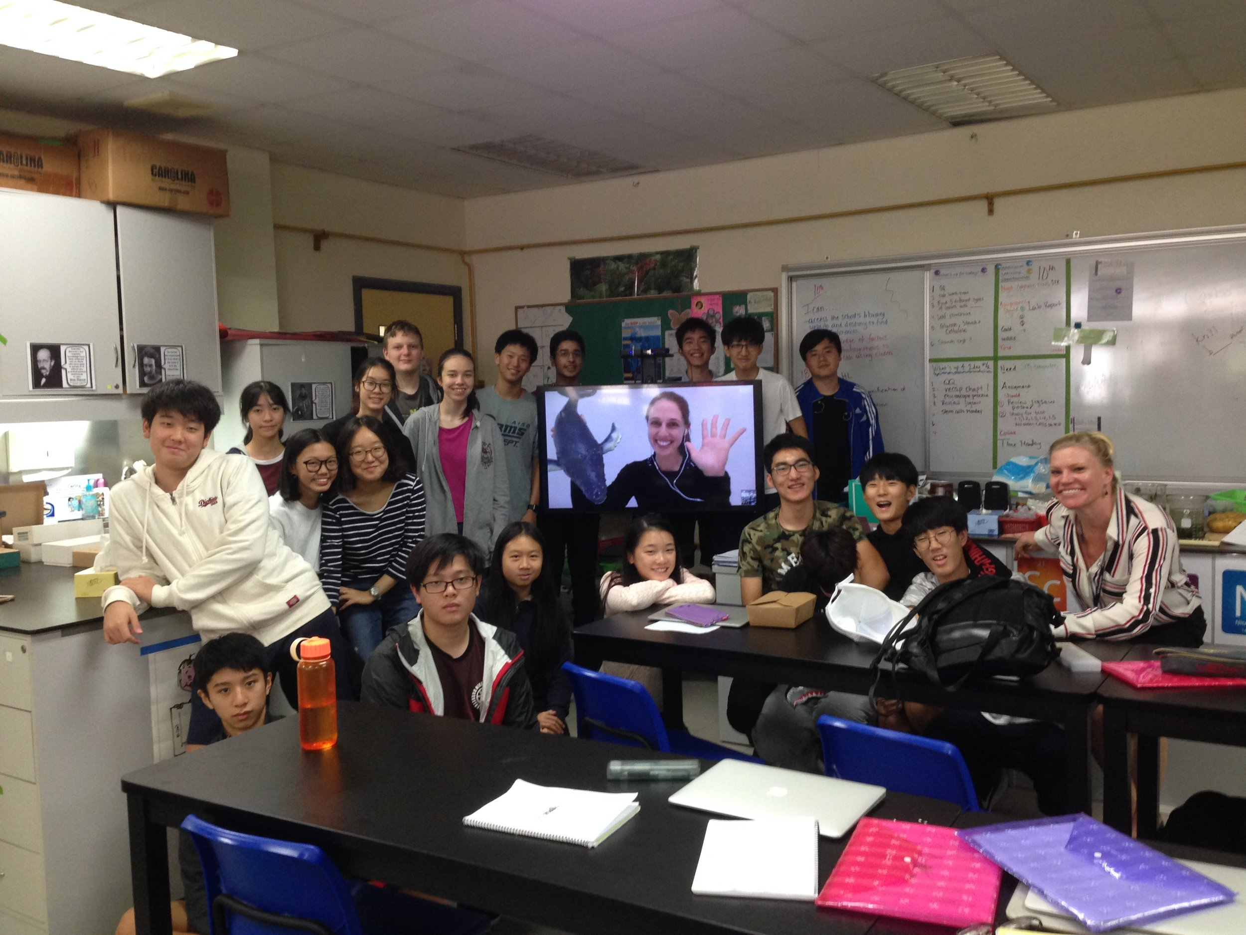 Skype-A-Scientist - Skype with American International School of Guangzhou, China.