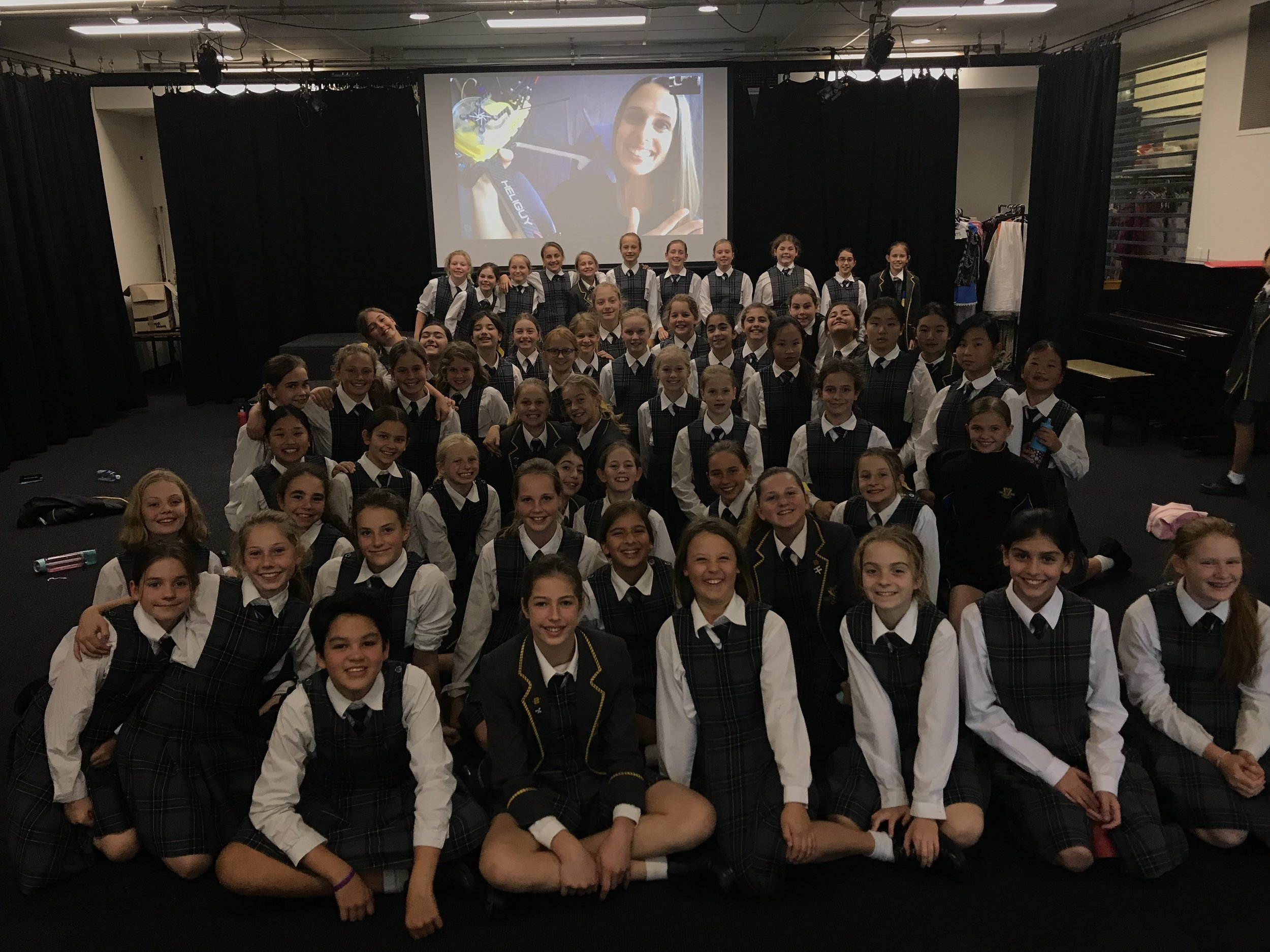 Skype with Kambala Girls School, Sydney - Vanessa spoke about innovation, technology and whale research with a very enthusiastic group of students.