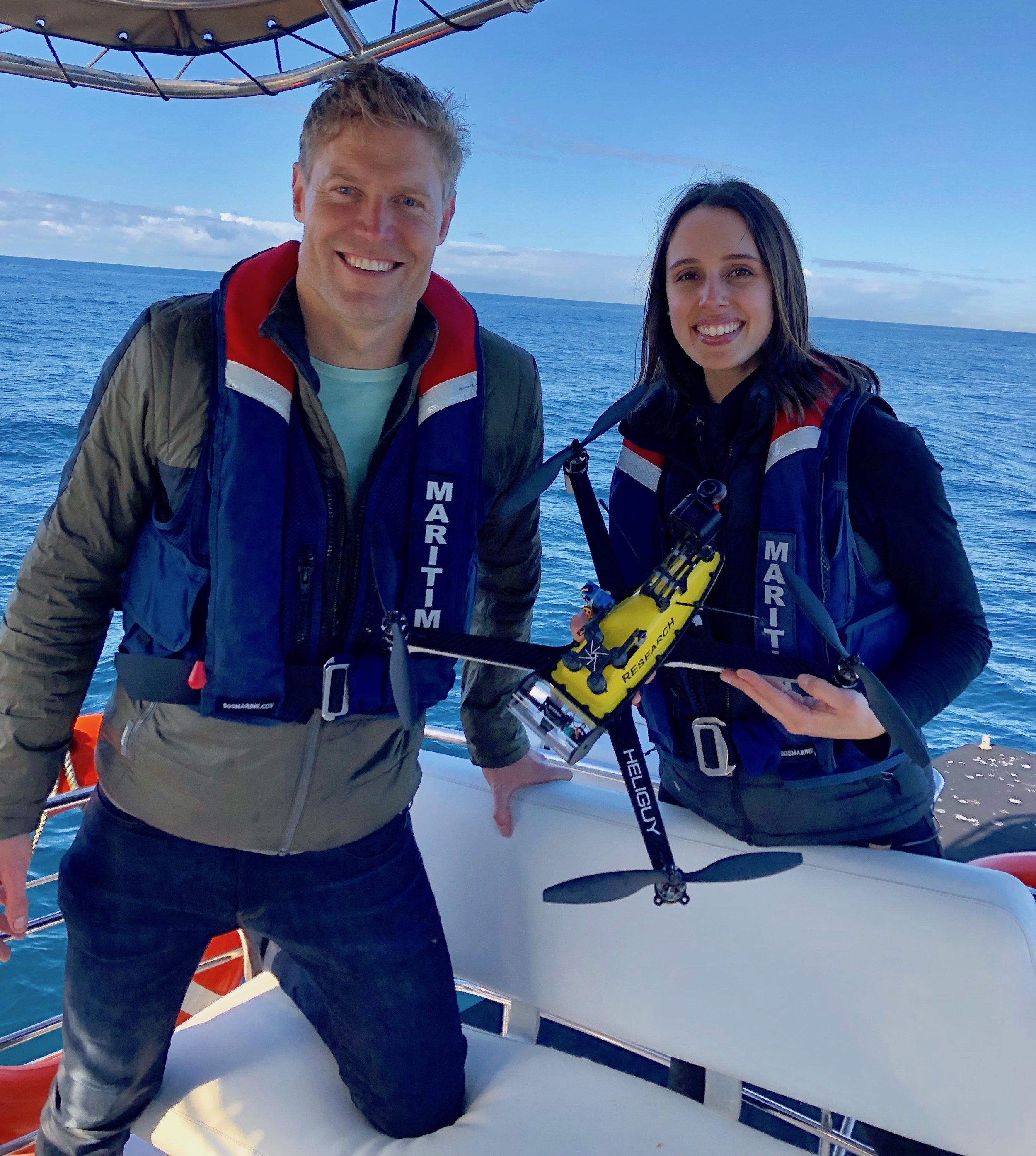 The Living Room (Channel 10) with Dr Chris Brown. - Vanessa welcomed Dr Chris onboard her whale snot collecting mission. Catch all the highlights below.