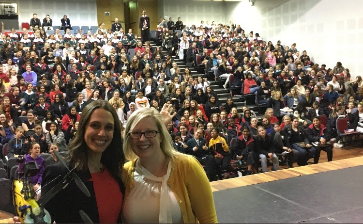 School science communication. - Vanessa spoke with 500 school students from Canberra Girls Grammar School.