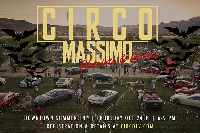 Calling on all ghouls, ghost, goblins & zombies of Las Vegas to rise! Haunt the hallowed halls of Downtown Summerlin with us as we fill the grounds with undead chariots & sweet treats to feed the spirits!  SAVE OCTOBER 24TH... 6 - 9 PM ALL Makes & Motorbikes Chariots Are Welcome  #BeRoyal #CircoLV #downtownsummerlin #andstudios #vegascarmeets #vegasautomag #vegascarshows #gearsandgrindsvegas #carsundkaffee #vegascarscene #vegasculture #vegascommunity #summerlin #summerlinlv #lasvegas