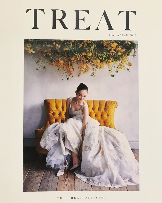 THE TREAT DRESSING TREAT MAGAZINE 2019 Flower担当させていただきました。 #thetreatdressing #treatmagazine #dress  #weddingdress #flowers #flower
