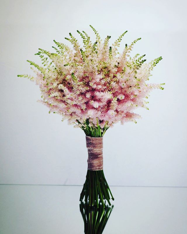 bouquet #flowers #flower #wedding #astilbe  #pink