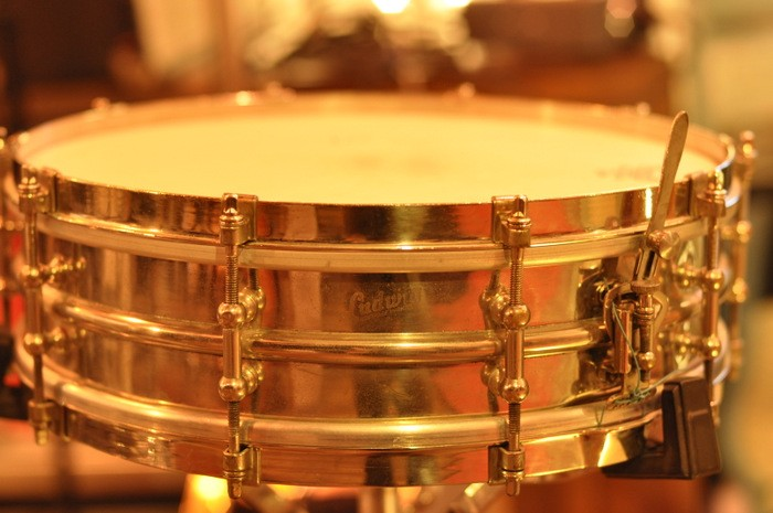 Ludwig 3 1/2 x 14 Chrome-over-Brass 1930s Vintage