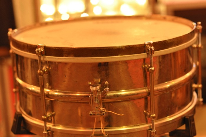 Ludwig 6 1/2 x 15 Brass Snare 1920s Vintage