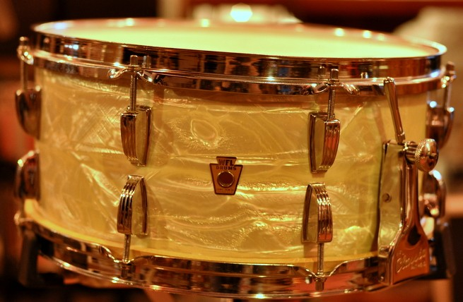 Ludwig 6 1/2 x 14 306 Brass Snare Vintage