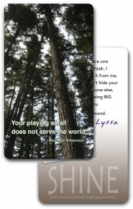 One of the cards from the InspireMe! card deck