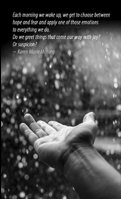 feeling the rain - design by Deborah Hartmann Preuss with a public domain image from pexels.com cc-zero no rights reserved.