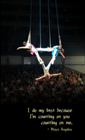 Young performers doing triple trapeze at Circus Juventas - by Abby Norling-Ruggles, on wikimedia commons cc-by some rights reserved.transformed, remixed by Deborah Hartmann Preuss