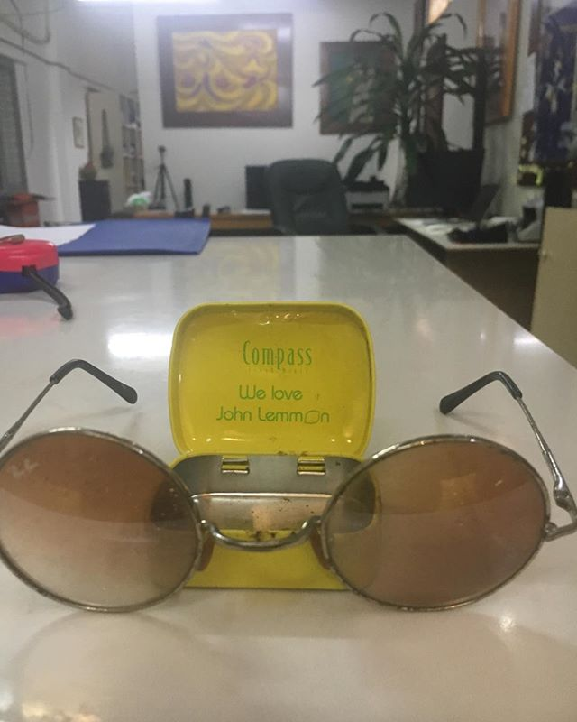 For those of us that are old enough to get the play on words. Just an old tin of lozenges that I found. . .  #lennon #sunglasses #vietnam #seehoian #hotchili #liverpool #japan #cool #groovythings #next #ideas #art #new #differrent