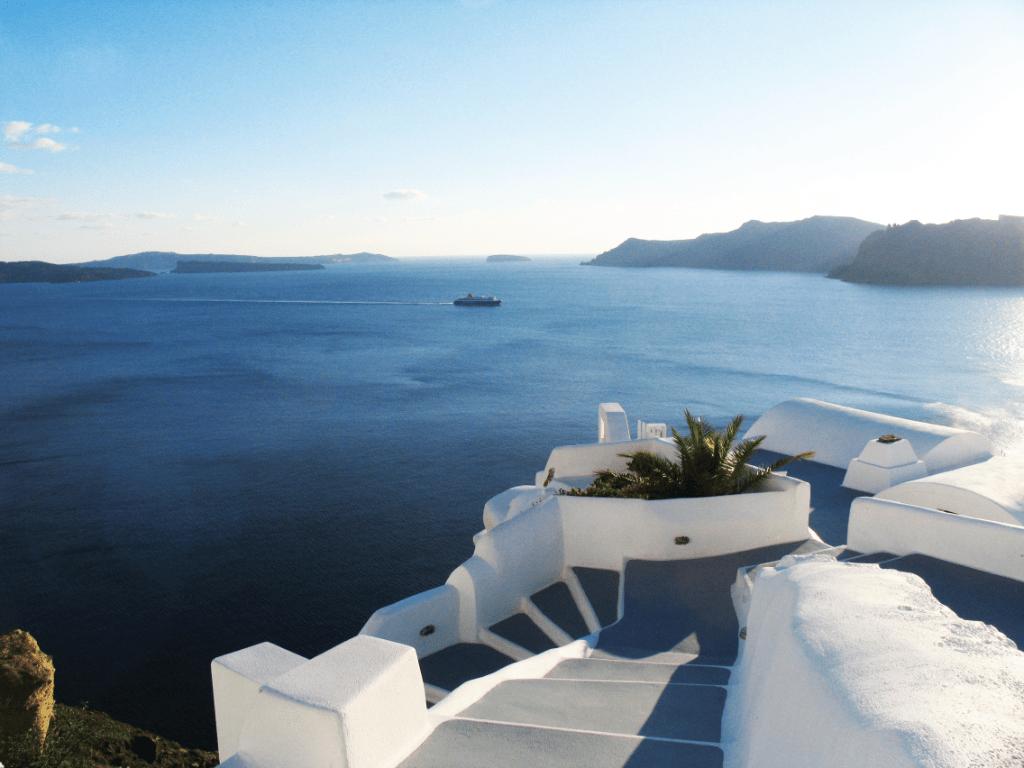 Mykonos - Santorini via Ios or Paros - Mykonos