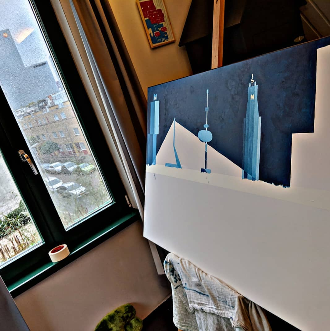 Rotterdam Skyline in progress