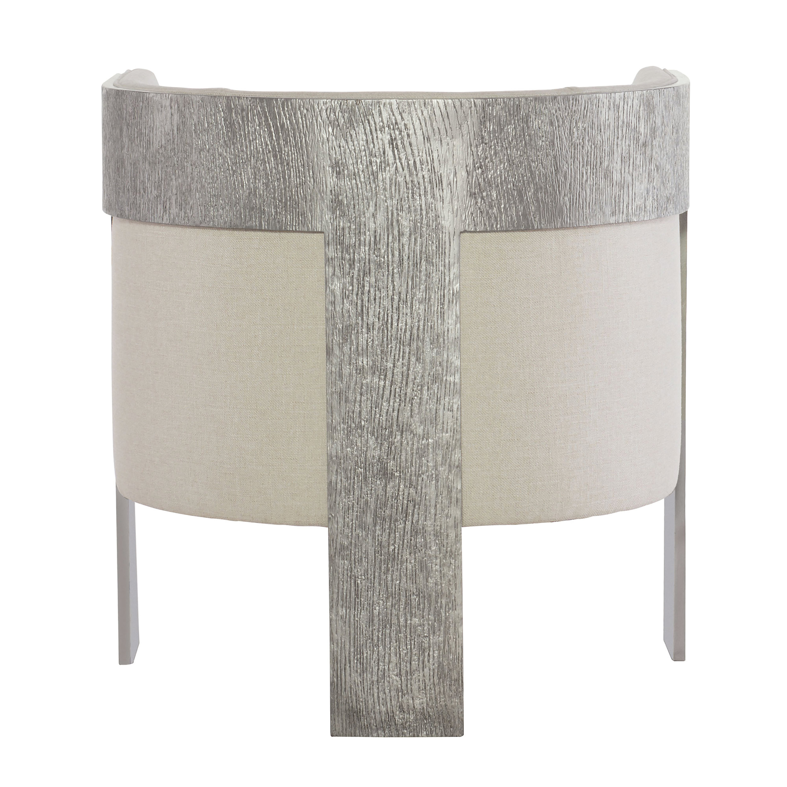 These Cosway chairs are finished in Antique Silver and are covered in creamy, easy-to-clean 100% polyester fabric.