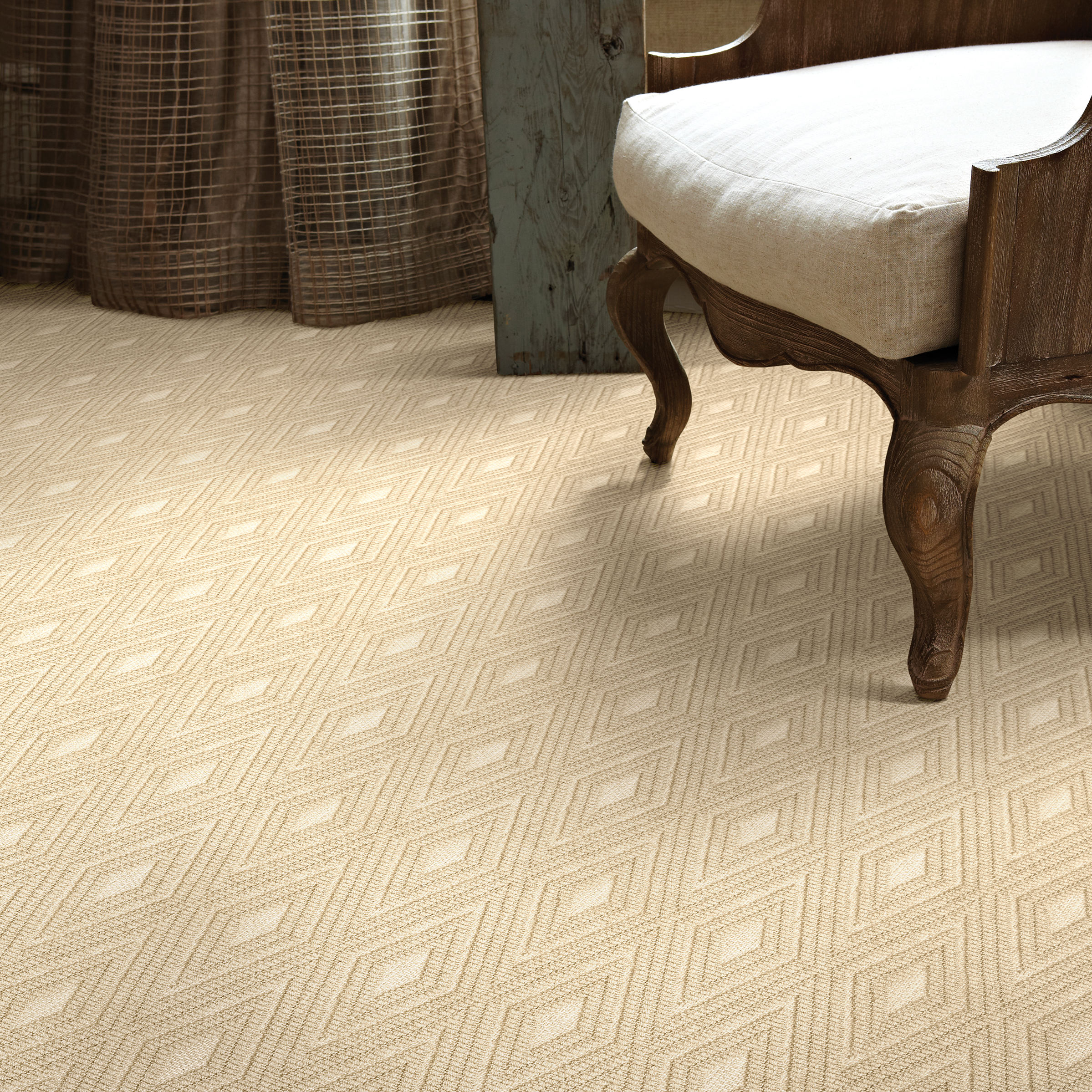 When choosing a carpet, the first step is to select the texture. A plush carpet might feel great but if you will be bothered by vacuum lines and footprints, then a shorter carpet is your best bet.