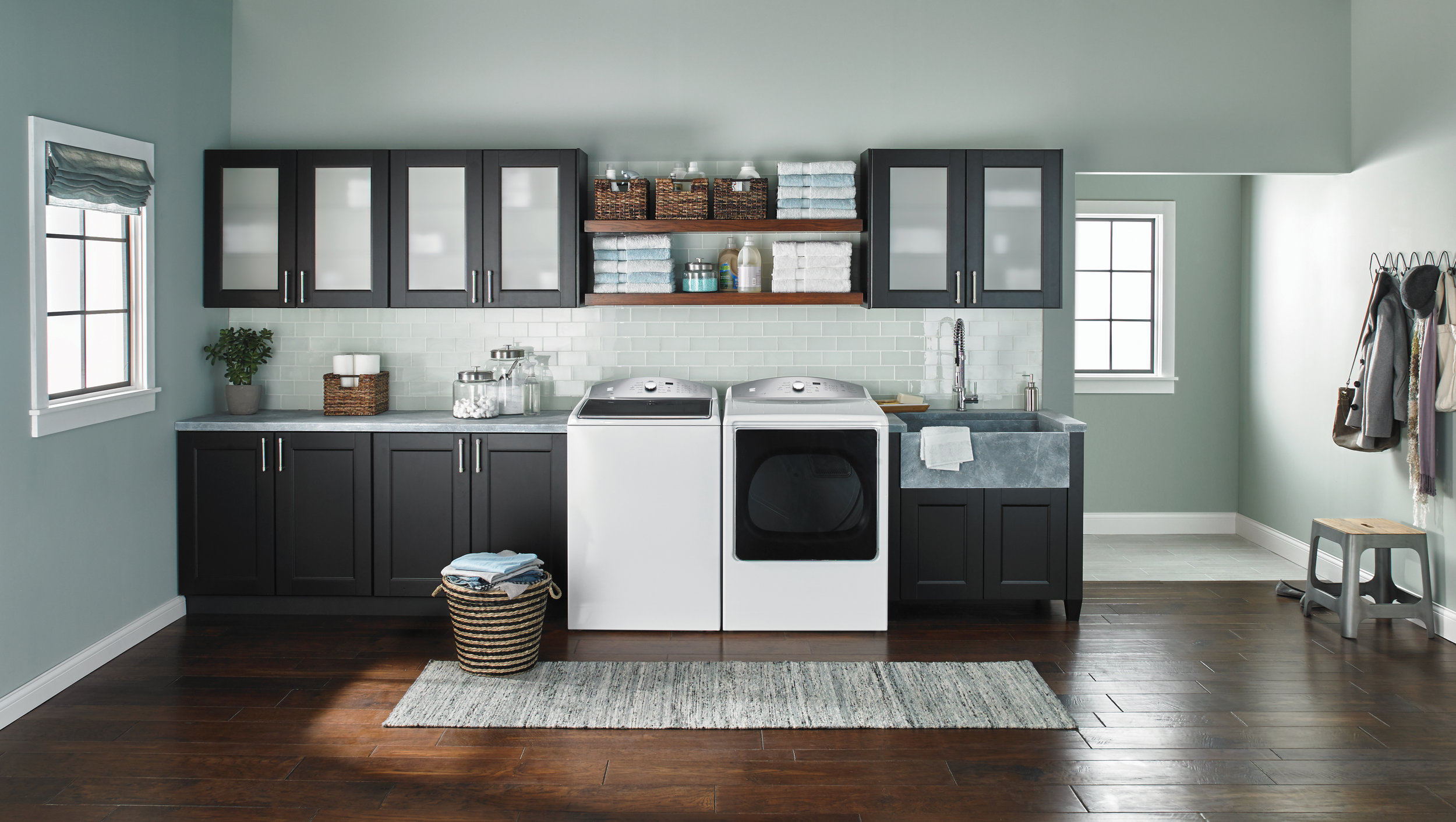 Appliances like this high-efficiency top load washer and SmartDry dryer by Kenmore can make laundry a breeze. $749 each;  kenmore.com. Courtesy of Whirlpool Corporation.