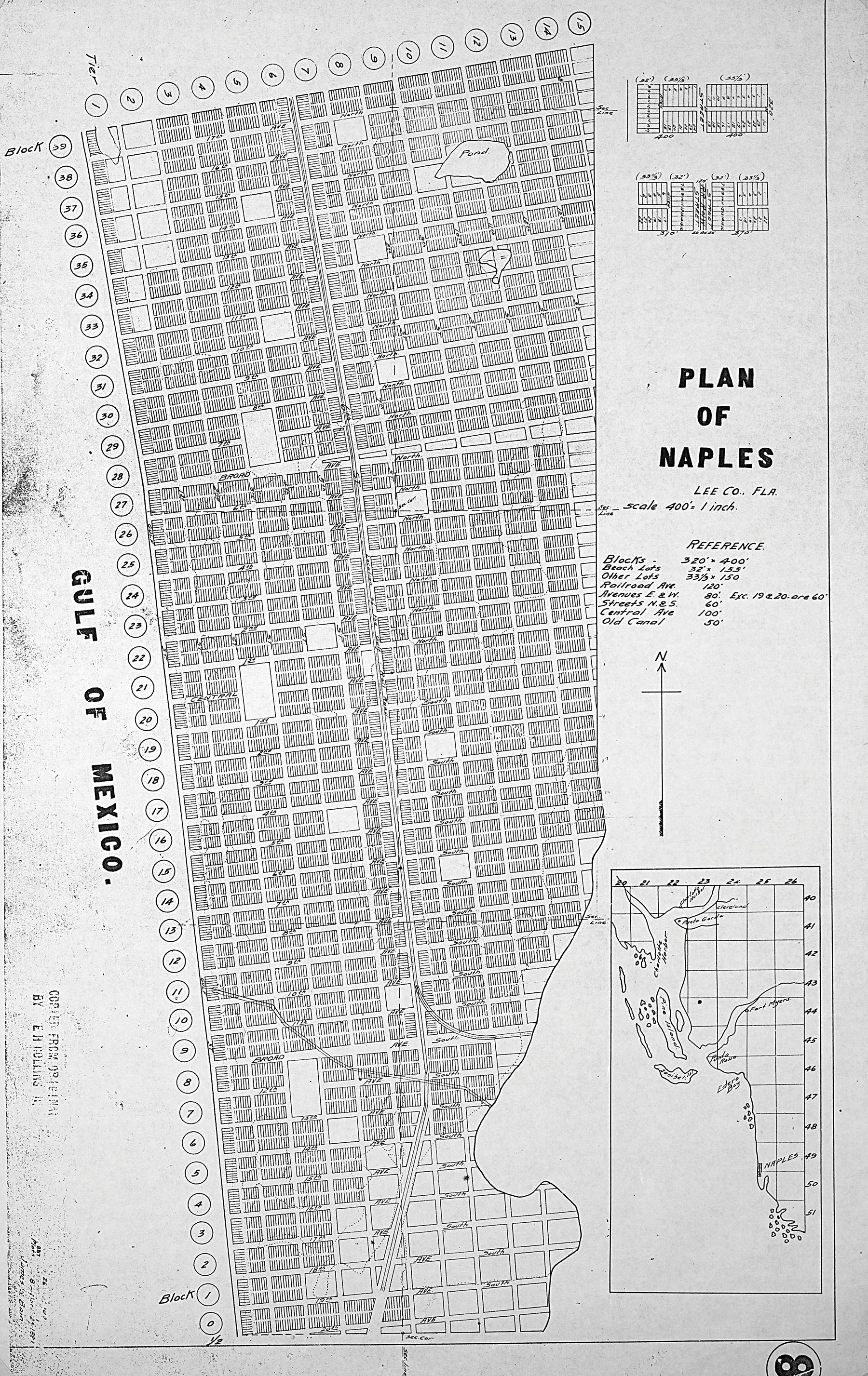 Plan of Naples, 1887