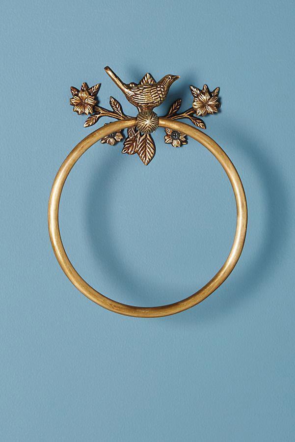 Everlee towel ring, $48;   anthropologie.com