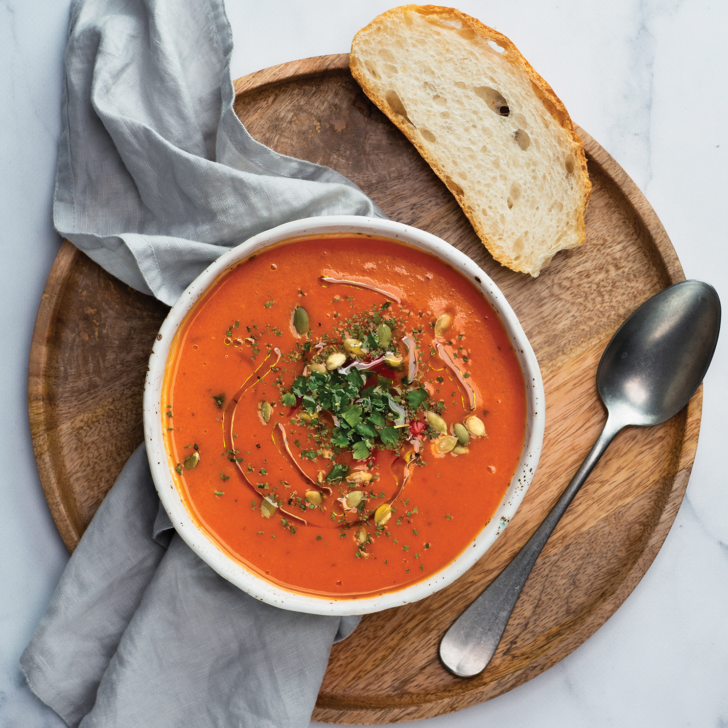 gaspacho-soup-on-light-marble-top-view-TXY72FM.jpg