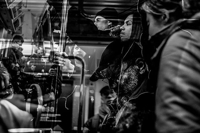 November 16, 2018:  Commuters on the path train heading to Jersey City. • • • • #shared_streets #blackandwhite_photos #streetgrammer #journalsquare #streetphotographyjournal #lensculturestreets #streetlife #streetphotoclub  #everybodystreet #myspc #photojournalism #ourstreets #streetphotographyworldwide #visualdiary #streetphotographycommunity #fromthestreetswithlove #lensculturediscovery #streetizm #everydayeverywhere #eyeshotmag  #fujifilmxseries #imjoncarroll #jonathancarroll