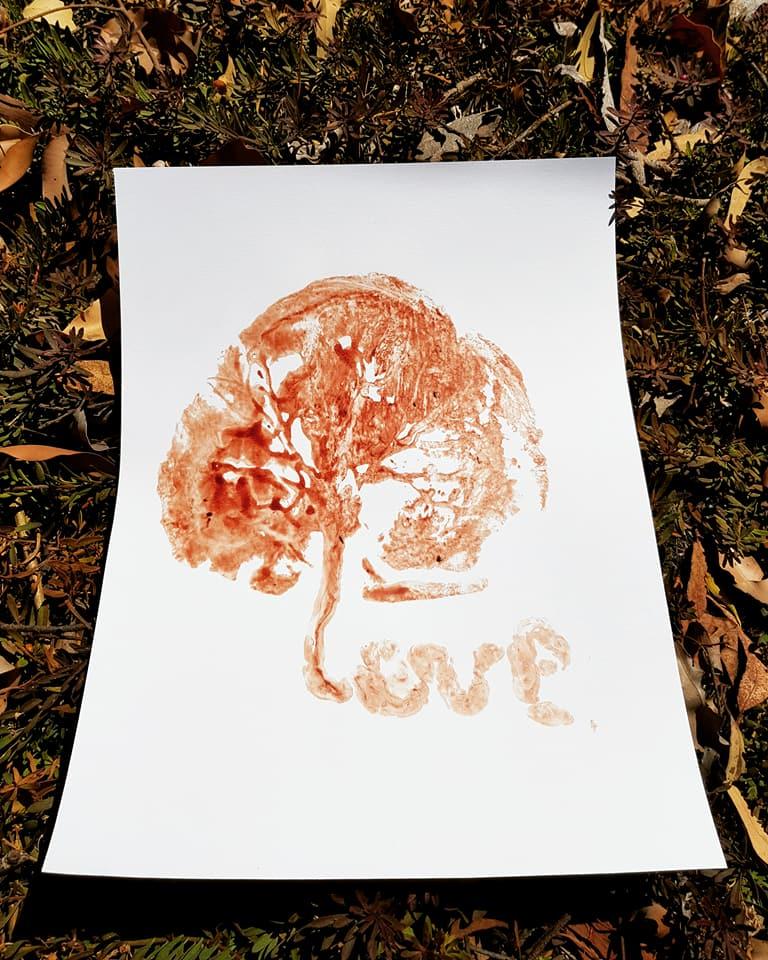 """tree of life"" - placenta print"