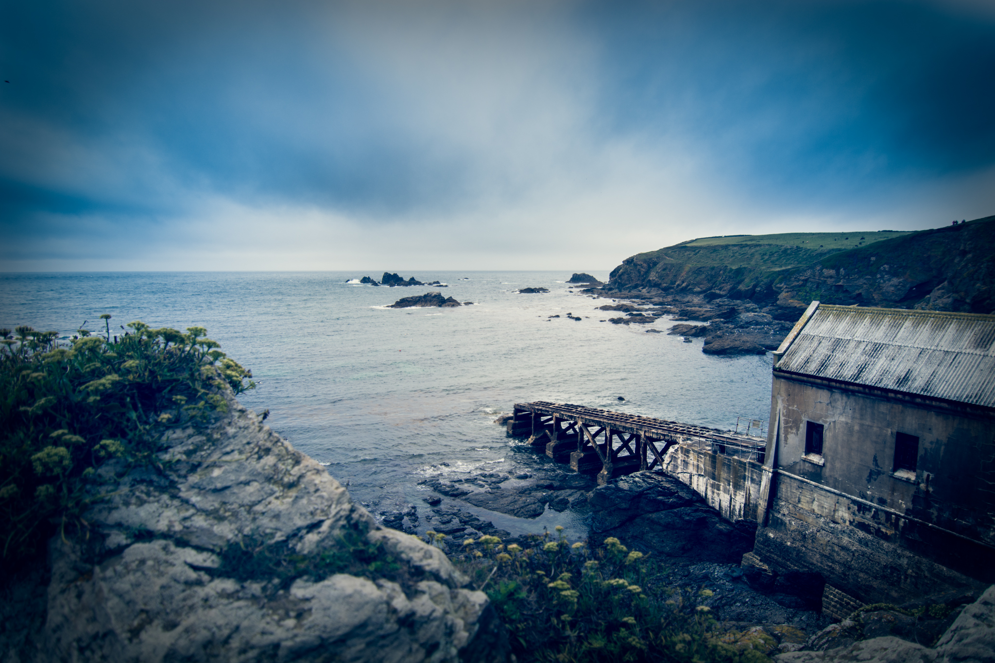 the abandoned lifeboat station