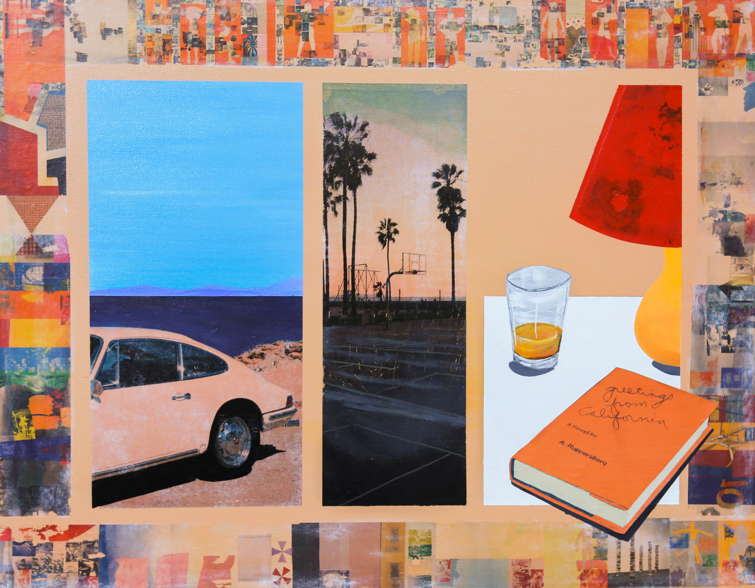 greetings from California, from me, Allen Ruppersberg & Robert Rauschenberg