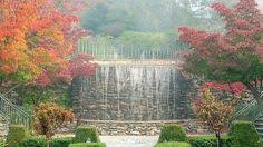 om sanctuary's water feature in fall