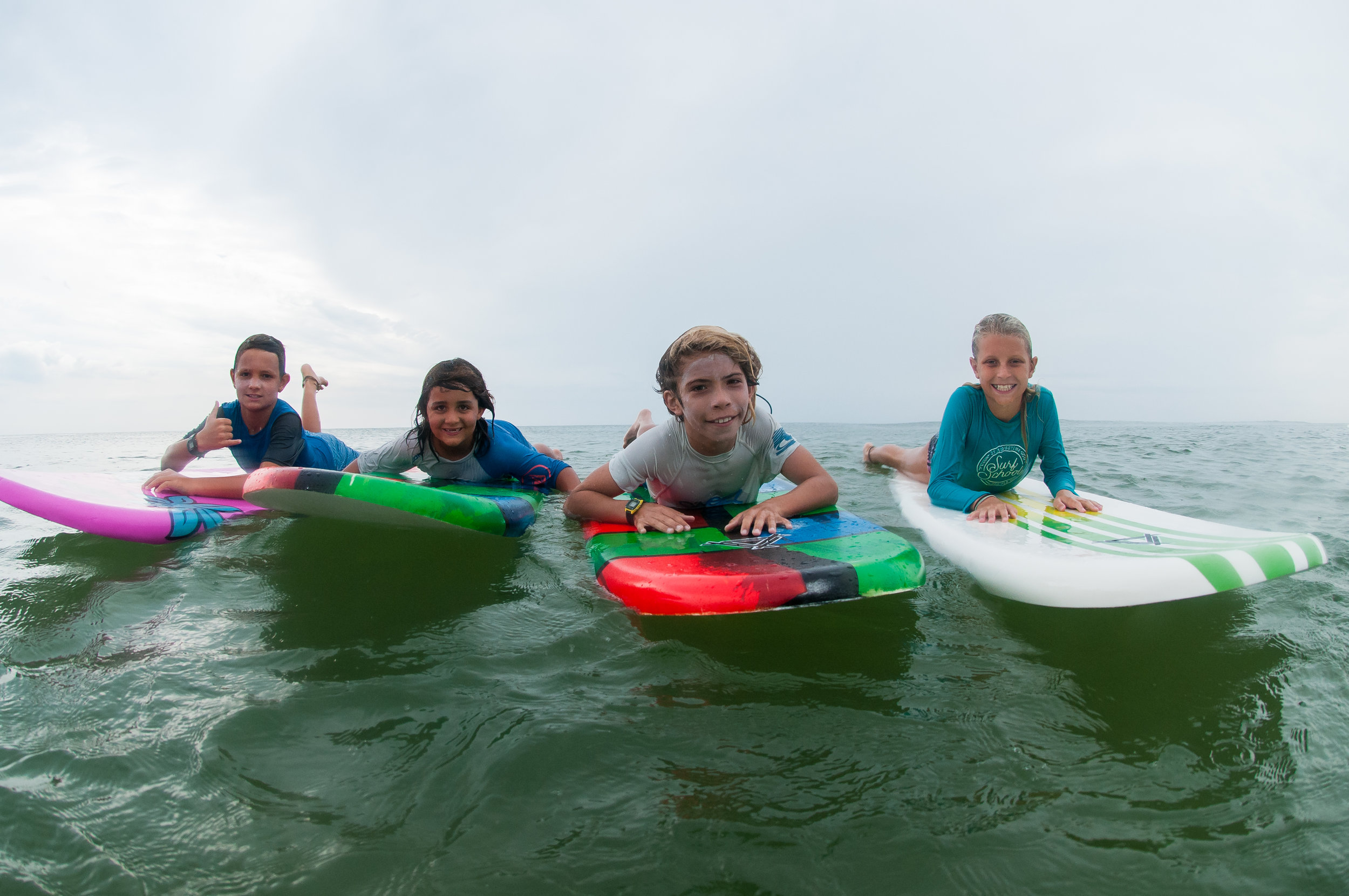 Sunny surfing and having fun with her friends!